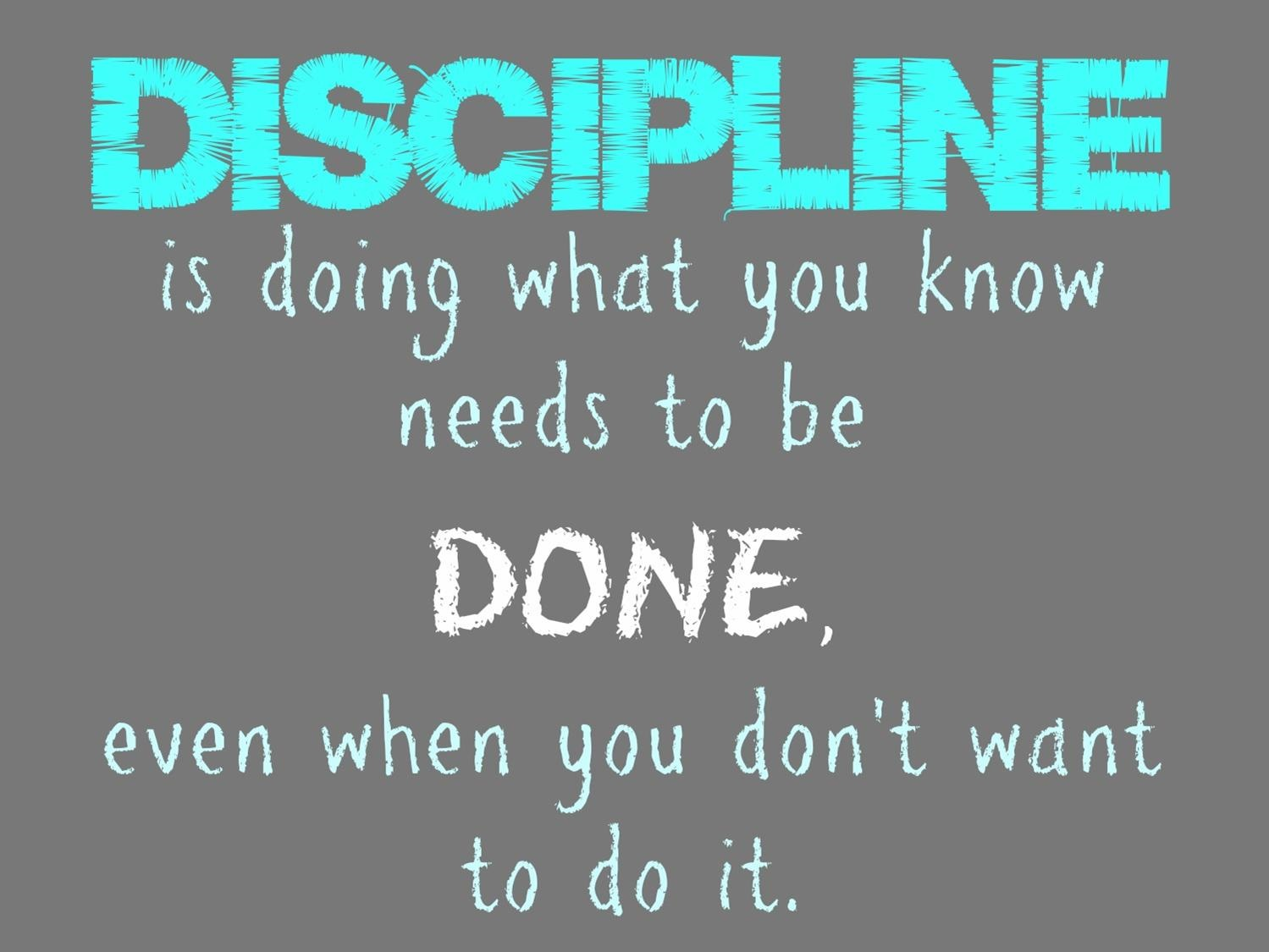 What is discipline? 1